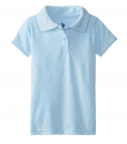 New U.S. Polo Association Little Girls' Short-Sleeve Jersey Polo Top with Picot Detail Toddler Polo