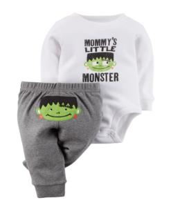 Stylish Carter's Baby Boys' Halloween 2-piece Bodysuit & Pant Set - Baby Halloween Outfits