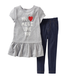 Stylish Carter's Baby Girls' 2 Piece Denim Pants Set Cute Baby Outfit