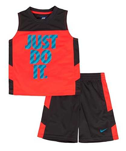 Nike Baby Girl Clothes Inspiration Nike Little Boys 60 Piece Just Do It Muscle Tee Shorts Set