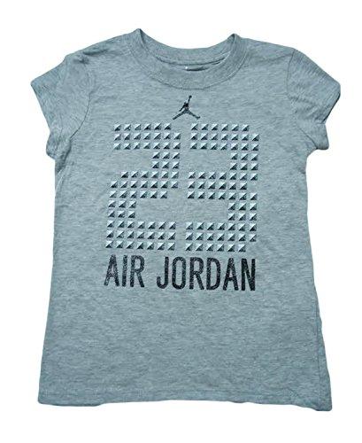 ddd798a4922 Jordan Toddler Girls 23 Air Jordan Jersey T-Shirt (6, Grey Heather ...