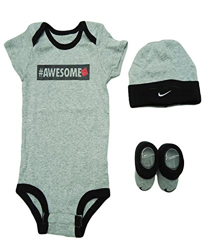 Nike Baby Girl Clothes Classy Nike Awesome 60600 Piece Infant Outfit Gift Set 60060 Months Dark Grey