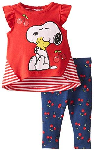 Peanuts Girls 2pc T-Shirt and Short Set