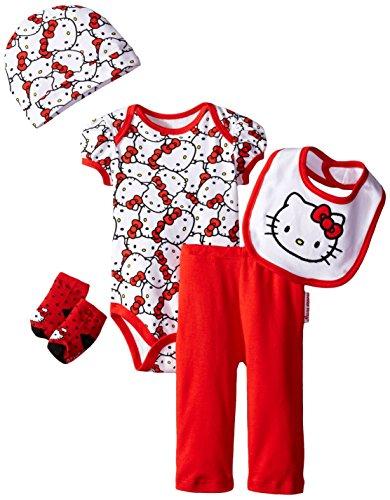 d9de827da Hello Kitty Baby Girls' Baby Gift Set, Red, 0-6 Months - Baby ...