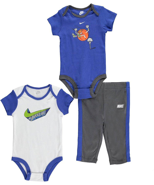 Nike Infant Boys 3-Piece Bottom and Bodysuit Set (6 - 9 Months, Dark ...