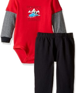 U S Polo Assn Baby Boys Hangdown Baby Infant Romper Grey