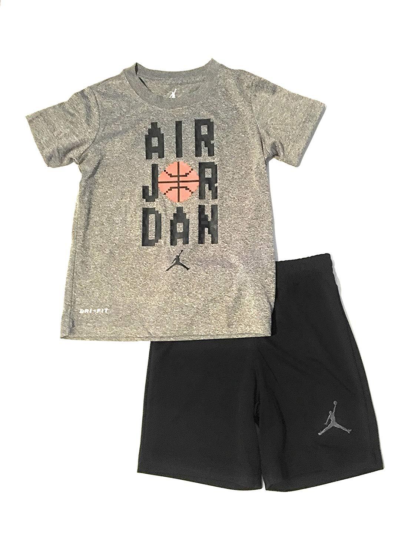 ef9dc4ce035 Jordan Air Little Boys T-Shirt and Shorts Set Black Size 7 - Baby ...