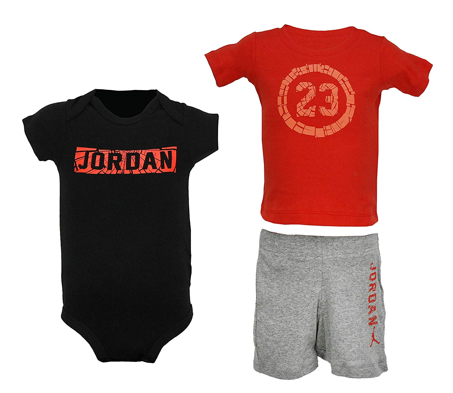 034b76aada02df NIKE Jordan Baby Boy 3 Piece Shorts Set Orange