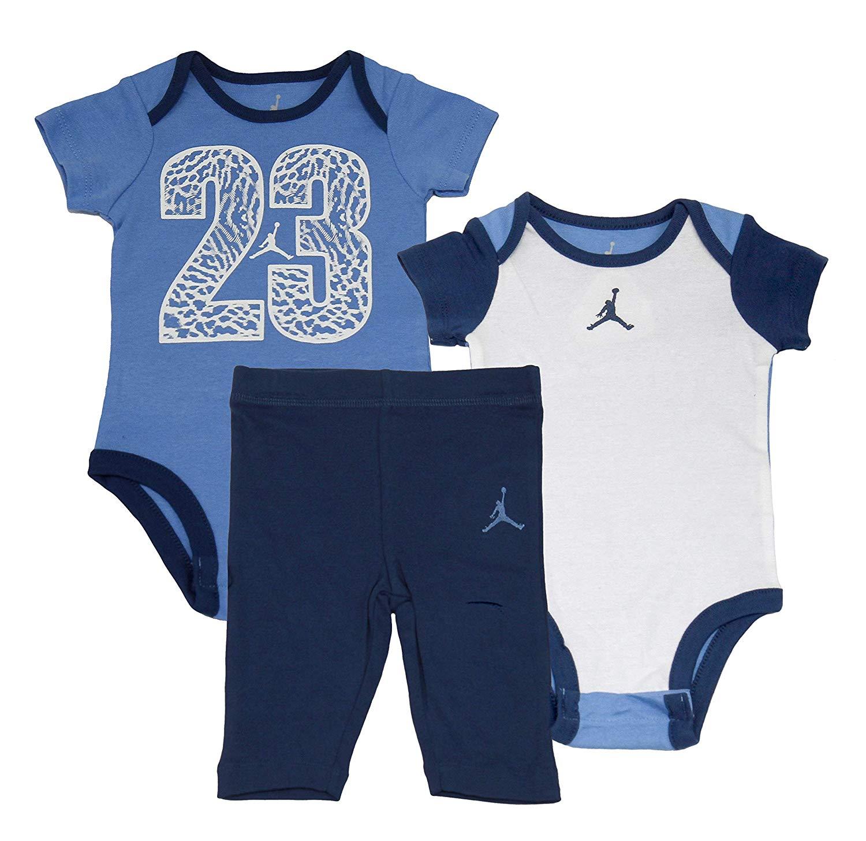 4a534f8d3f1a12 Nike Air Jordan 2 Piece Bodysuit Pant Set - Blue - Baby Clothes ...