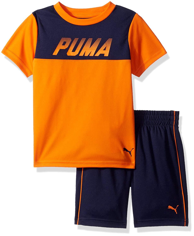 cf47ef543 Toddler Boys PUMA 2PC Tee   Short Set - Baby Clothes